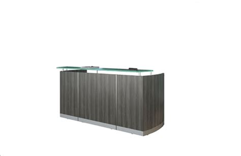 mayline reception desk mayline medina gray steel finished reception desk