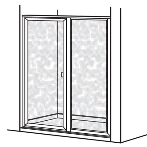 American Standard Am00862 436 213 Hammered Glass Prestige Hammered Glass Shower Door