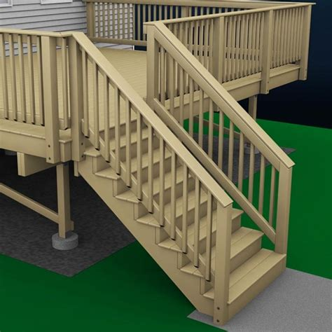 Build Stair Railing How To Build A Deck Wood Stairs And Stair Railings