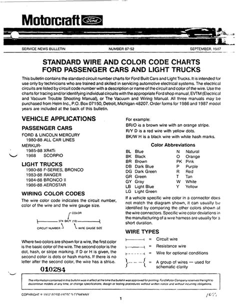 standard wire and color codes gary s garagemahal
