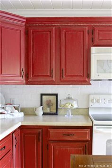 Red Painted Kitchen Cabinets by 1000 Ideas About Red Cabinets On Pinterest Red Kitchen