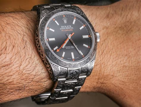 rolex milgauss 116400 madeworn engraved watch review
