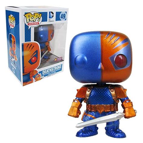 Funko Pop Deathstroke Dc deathstroke metallic previews exclusive pop vinyl figure