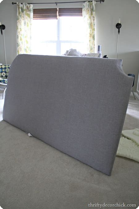 how to make a diy tufted headboard from thrifty decor
