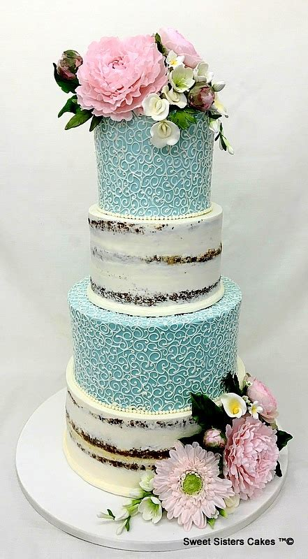 wedding cakescontemporary sweet sisters cakes