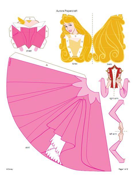Princess Papercraft - recortables 3d la durmiente dibujos para