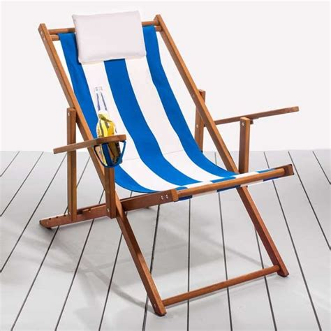 Canvas Deck Chairs - folding deck chairs for the home nautical deck