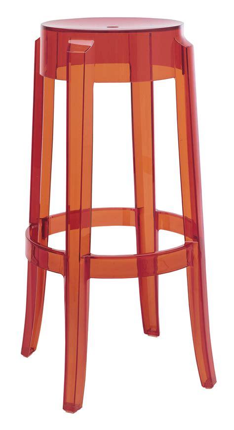 Bar Stool Plastic by Charles Ghost Bar Stool H 75 Cm Plastic Orange By Kartell