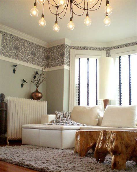 wallpaper  wall  house ideas picture rail