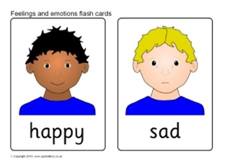 printable feeling faces cards happy and sad faces for children clipart best