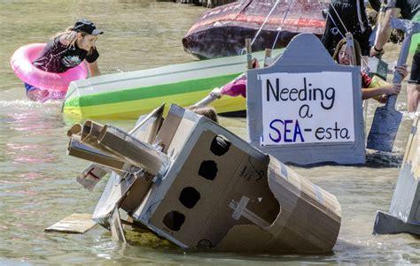 cardboard boat online muskies stay afloat in cardboard boat regatta