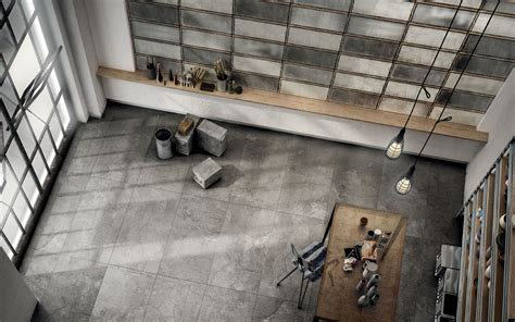solid concrete grey floor and wall tiles iris ceramica
