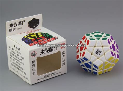 Rubik Megaminx Yj Yuhu Black Base Speed Cube Yong Jun yj yuhu megaminx white magic cube puzzles toys rubik s