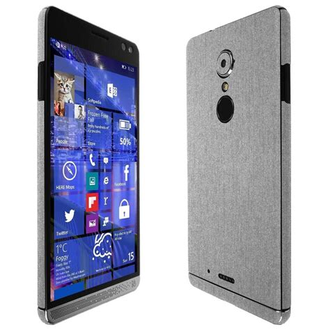 Hp Sony Xperia X3 skinomi brushed aluminum skin clear screen protector for