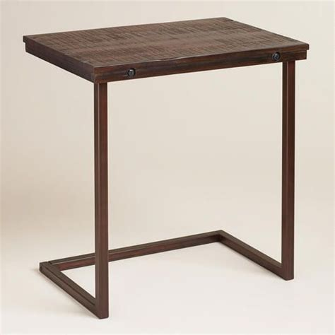 wood and metal computer desk oversized wood and metal laptop table tvs vanity for