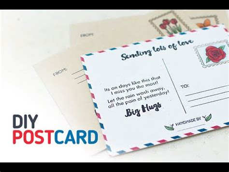 make your own post card how to make your own postcard using altenew s happy mail
