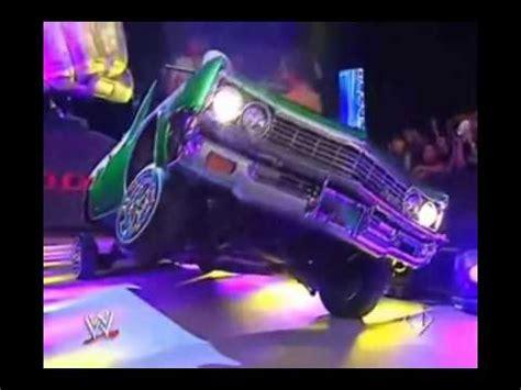 wwe eddie guerrero car rey mysterio entrance in the lowrider vidoemo