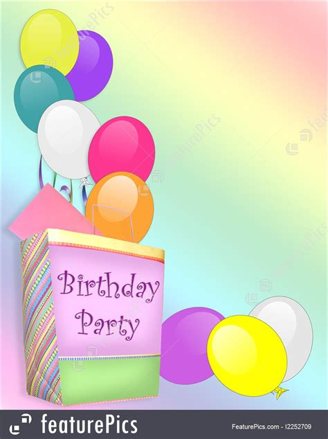 templates birthday party invitation background stock