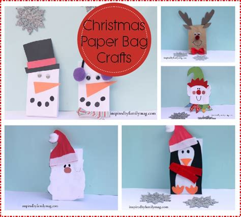 Paper Sack Crafts - paper bag crafts inspired by family