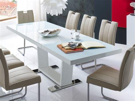 hochglanz weiß tisch esstisch ausziehbar 160 240 x90x76cm tisch hochglanz