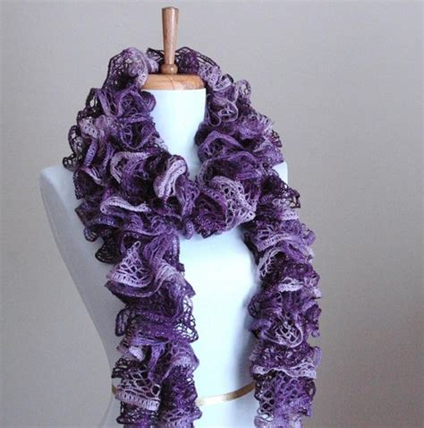knit ruffle scarf phylphil on artfire
