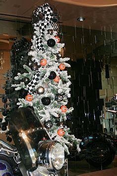 harley davidson christmas tree skirt 18 quot lighted harley davidson theme tree harley tree harley davidson and