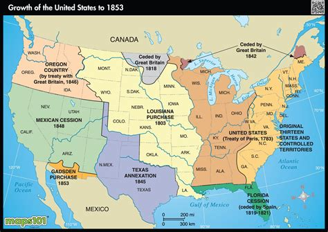 maps of the usa with states small 1853 us growth wall map maps
