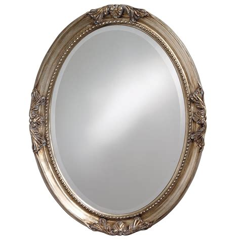 framed oval mirrors for bathrooms 25 in x 33 in warm antique silver oval framed mirror