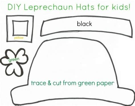 How To Make A Leprechaun Hat Out Of Paper - st s day crafts for free printable