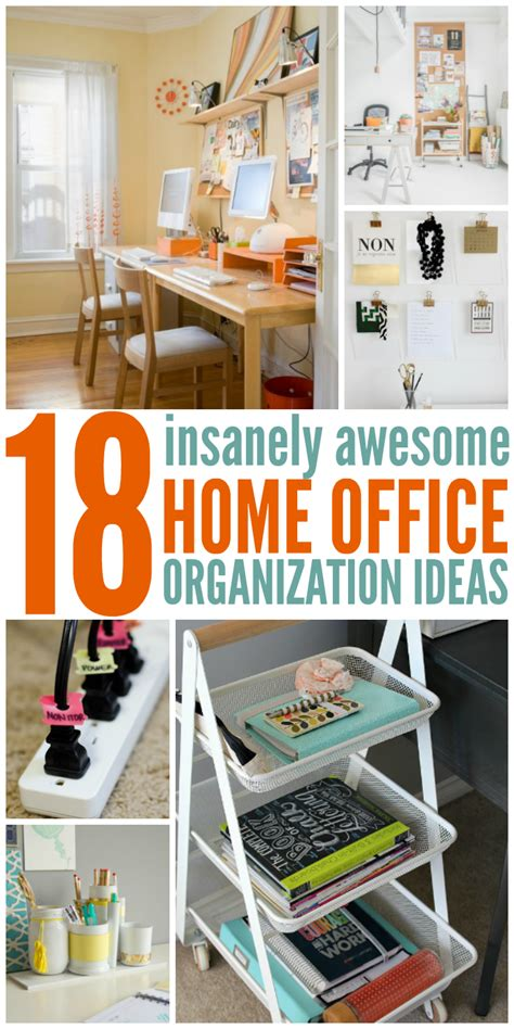 how to organize a home office 18 insanely awesome home office organization ideas