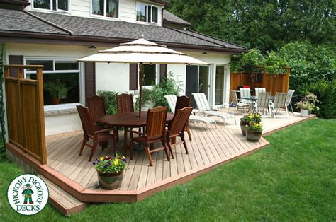 backyard deck plans pictures this backyard delight was handcrafted using monarch low