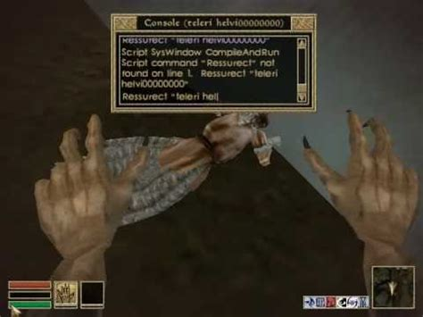 console oblivion the elder scrolls morrowind basic console commands