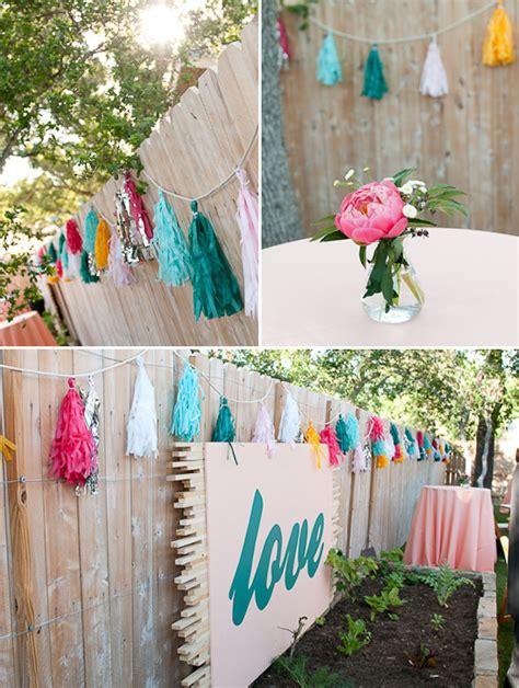 unique backyard wedding ideas unique and artsy backyard wedding