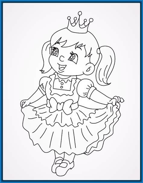 Imagenes De Good Morning Para Niños Para Colorear | dibujos para colorear de bebes dibujos para colorear nia