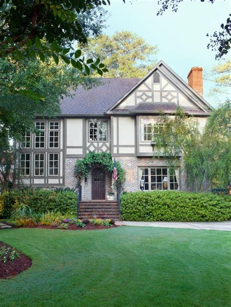 stealable curb appeal ideas from tudor revivals tudor gray trim and curb appeal