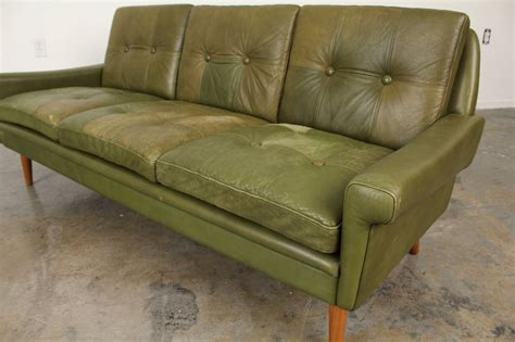 mobler sofa tufted leather sofa by skipper mobler at 1stdibs
