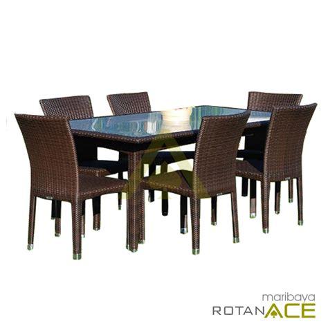 Meja Makan Ace Hardware jual maribaya meja makan rotan sintetis set 6 seats harga