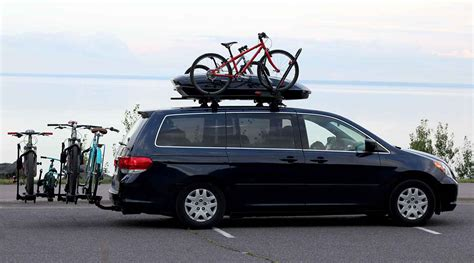 Modified Bicycle Rack by Family Hauler Minivan Modified For Bikes Gear