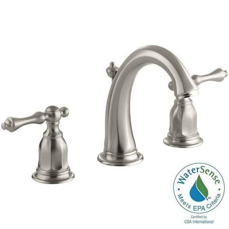 bathroom water faucets kohler kelston 8 in widespread 2 handle low arc water