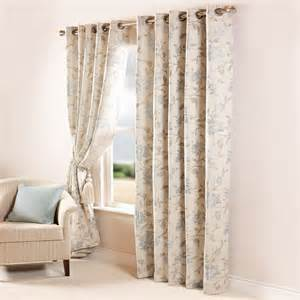 Natural Floral Curtains Scatter Box Ashford Floral Lined Eyelet Curtains Ebay