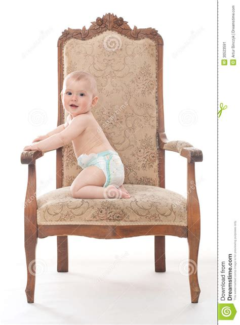 Baby On Chair by Baby Boy On An Antique Chair Stock Image Image 30523591