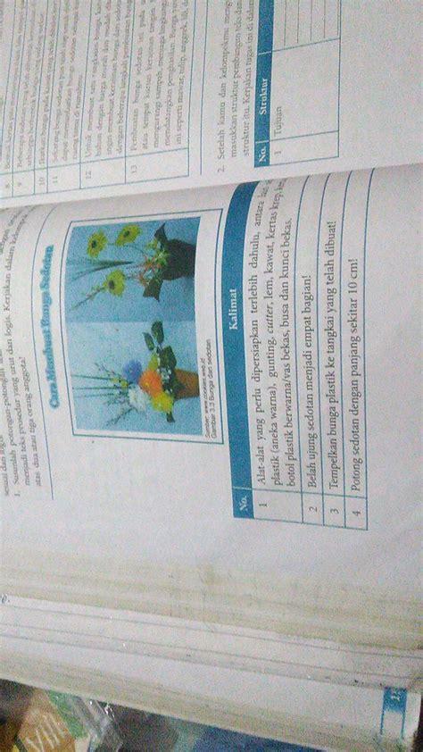teks prosedur membuat bunga dari sedotan penyusunan teks prosedur cara membuat bunga sedotan