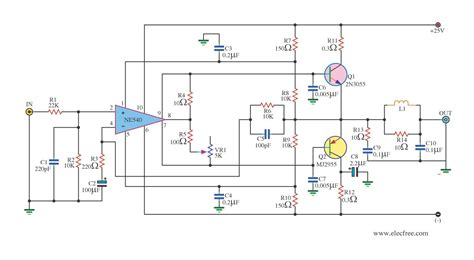 2n3055 transistor lifier circuit circuits apmilifier ne540 anb 2n3055 circuit power lifier ocl 35w