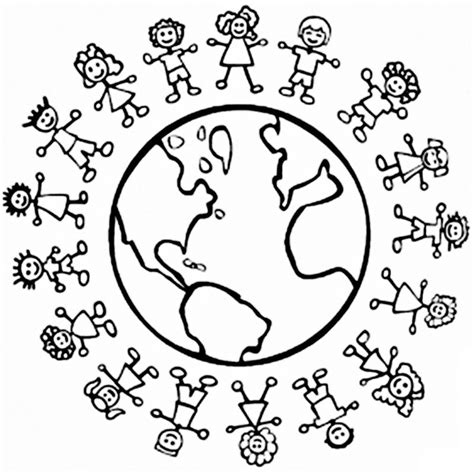 children around the world coloring page az coloring pages