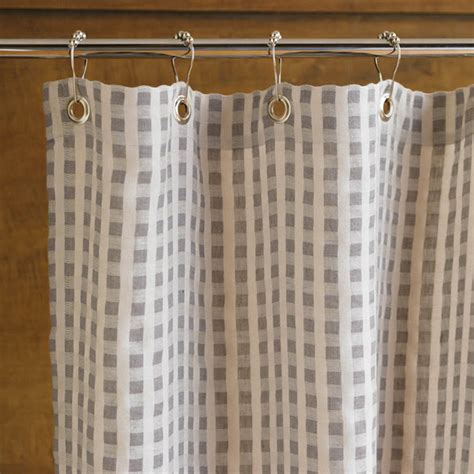 natural cotton shower curtain coyuchi linen and organic cotton tahoe shower curtain