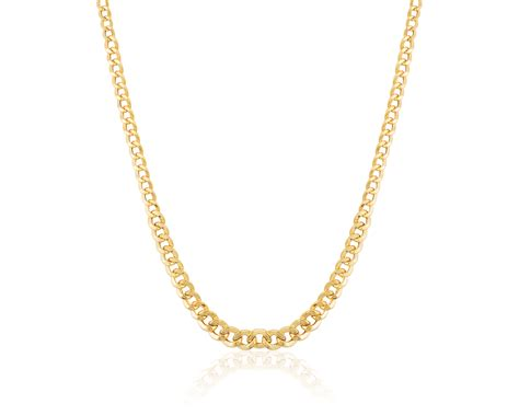 14 karat yellow gold 18 quot hollow curb necklace