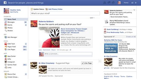 design facebook event page facebook to announce new look for news feed