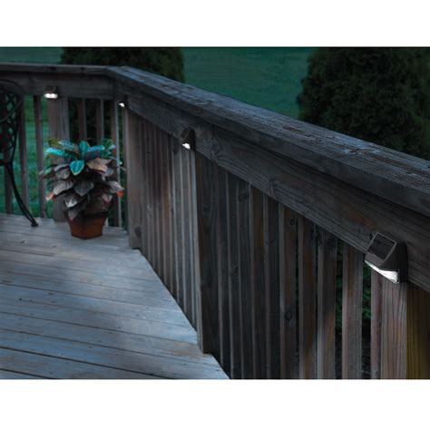 Solar Lights For Deck Stairs Solar Deck Post Lights Set Of 4 From Sporty S Tool Shop