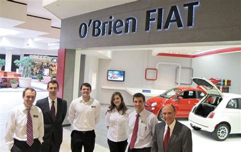 obrien fiat shoppers hit the mall test drive a fiat