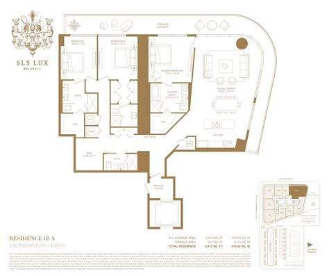 brickell place floor plans sls lux brickell